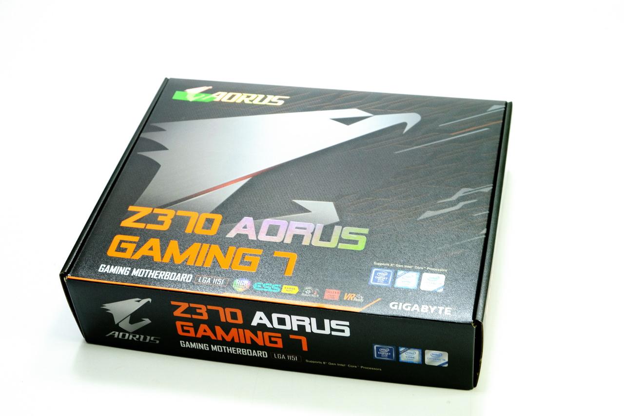 主機板- GIGABYTE Z370 AORUS GAMING7開箱與Intel Core i7-8700K